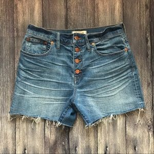 Madewell | High Rise Button Front Denim Shorts